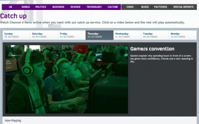 Zed Nelson – Gamers for C4 news